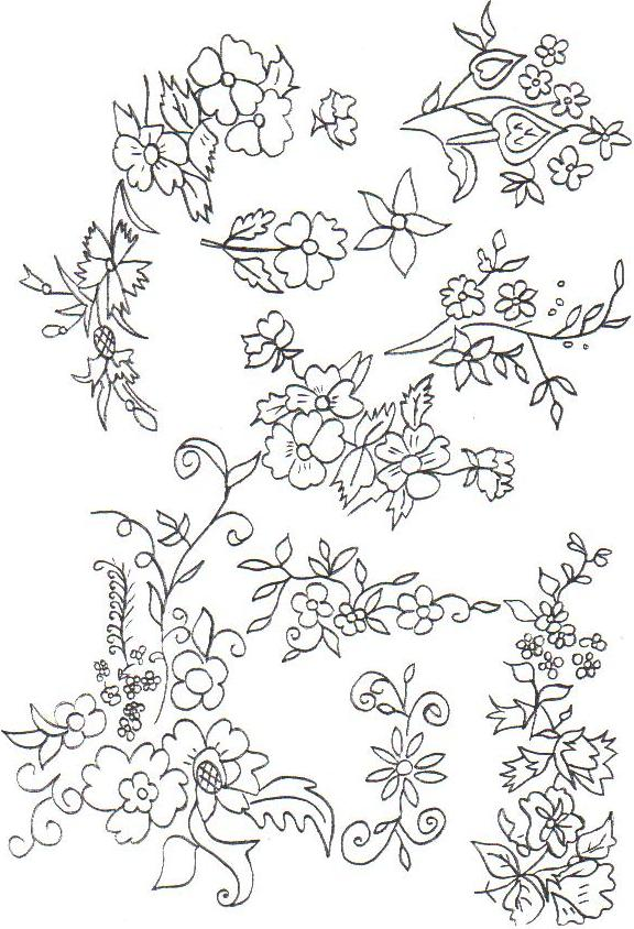 Вышивка растительных узоров